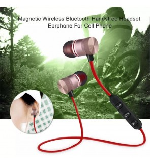 MAGNETIC Wireless Bluetooth Handfree Headset  with volume control