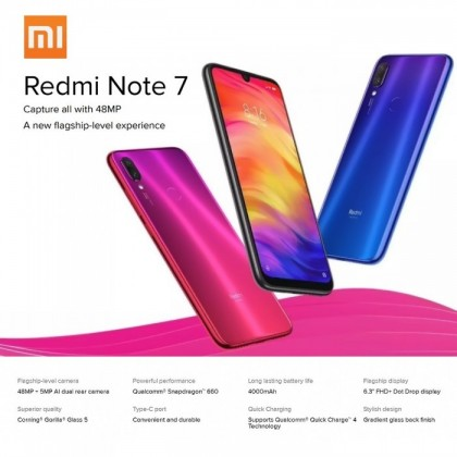 Redmi Note 7 Dual SIM Dual Standby 6.3 Inch 4GB RAM 64GB ROM Original import Used set