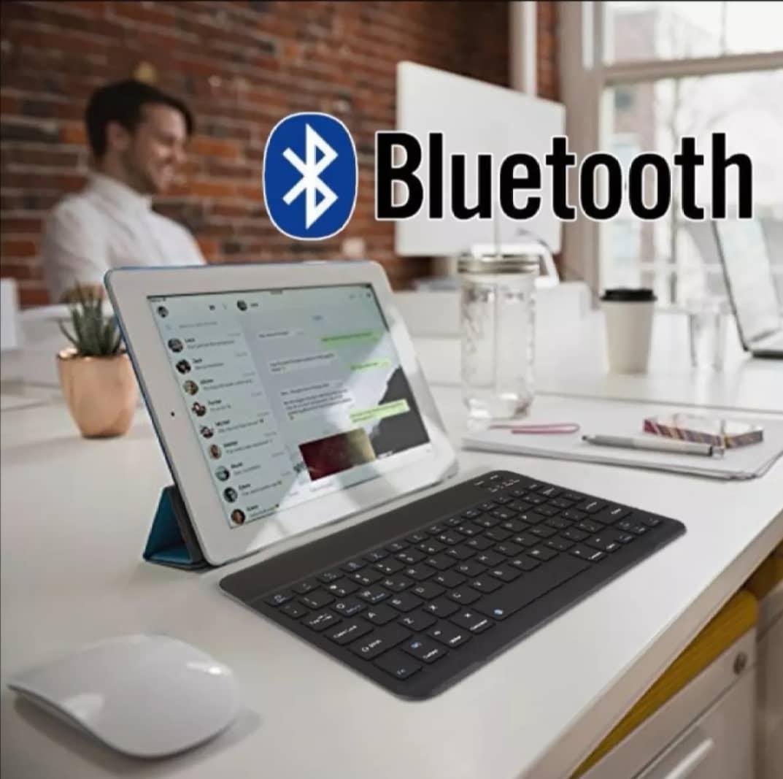 "Ultra Slim 7"" /10"" Mini Bluetooth Wireless Keyboard for Android Apple Windows Phone"